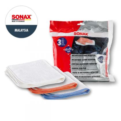 SONAX Microfibre Cloths Ultrafine (3pc)