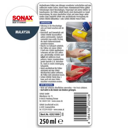 SONAX Xtreme Polish+Wax 3 Hybrid NPT 250ml