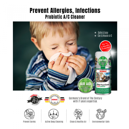 SONAX AirAid Probiotic Aircond Cleaner Twin Pack